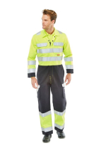 Flame Retardant Anti-Static ARC Hi-Vis Two Tone Coverall