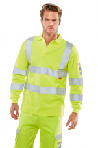 Flame Retardant Anti-Static ARC Hi-Vis Polo Shirt