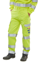 Flame Retardant Anti-Static ARC Hi-Vis Trousers