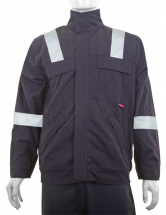 Flame Retardant Anti-Static ARC Woven Jacket Navy