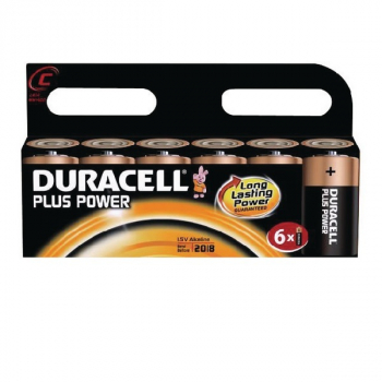 Duracell Plus Power Batteries - Duracell Plus C Battery (Pack of 6